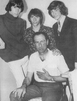 Ossie Byrne with Bee Gees in 1966